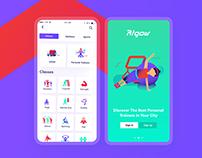 Rigow App UI/UX Design.