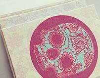 Sugar skull textile design