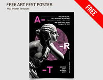 FREE ART FEST POSTER TEMPLATE IN PSD