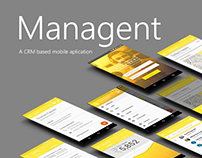 Managent - a CRM based mobile application (2016)