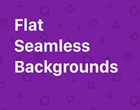 Flat Seamless Backgrounds Collection