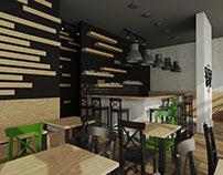 Sushi restaurant interiors