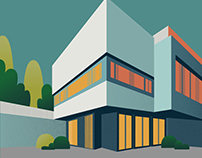 Modern House - illustration for Architecture Day