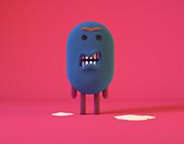 3D Grumpy Character