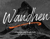 FREE | Wandhen Brush Font