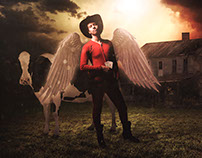 "Photo Manipulation - Surreal - ""Holy Cow"""