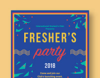 Fresher's Party - Invitation Card Design