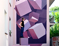 3D mural in Lodz