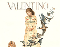 Time Flies - Valentino Fashion Show Illustration