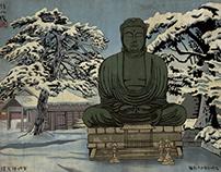 Ukiyo e frozen buddha