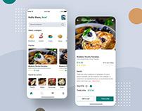 Fresh Food Mobile App Ui Designs PSD