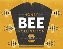 Honey Bee Pollination Gig Poster