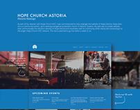 Web design for Hope Church, Astoria