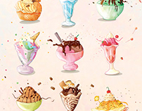 National Ice Cream Sundae Day Poster