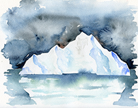 Watercolor Iceberg