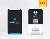 #vertical #businesscard #psd #free #download