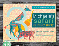 Safari Birthday Party Invitation & Thank You