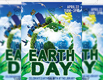 Earth Day - Premium Flyer Template + Facebook Cover