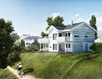 Norvegian House - Architectural Matte Painting