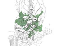 Oecophylla Smaragdina [チームワーク]