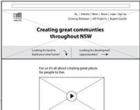 NSW Landcom UX Design