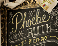 Phoebe's First Birthday Board