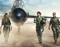 India's First three Fighter Pilots for Elle India.