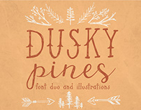 Dusky Pines Font Duo and Illustrations