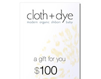 gift card for cloth + dye