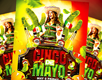 Cinco De Mayo PSD Flyer Template (download .psd)