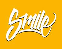 Smile lettering