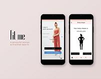 UX/UI Fashion Apps - Fit me