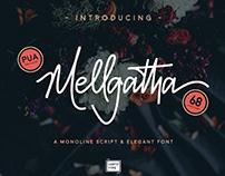 FREE | Mellgatha Monoline Script Font