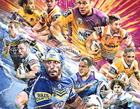 NRL 2015 Grand Final Artwork
