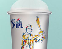 Pepsi ipl glass