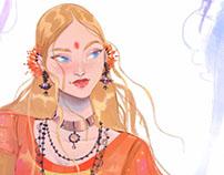 Blonde Indian Girl