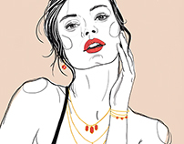jewelry fashion illustration