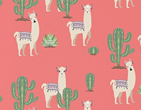 Llama with Cacti