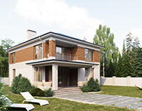 Architectural visualization of a private house Full CGI