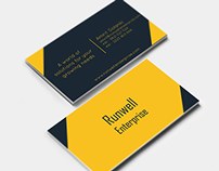 Business Card for Runwell Enterprise