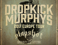 Dropkick Murphys - 2017 Europe Tour Poster