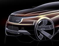 Range Rover Sketches