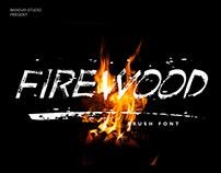 FIREWOOD Brush Font