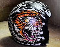 Coronas Modificadas - Custom Helmet - Illustration