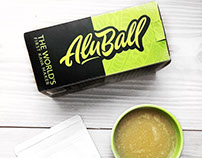 My logo,lettering  for AluBall® by Kavafied