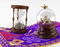 Aladdin 3D turning pieces
