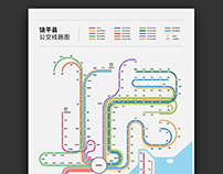 Raoping Bus System Map