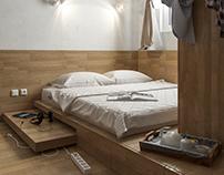 Wood Bedroom Concept