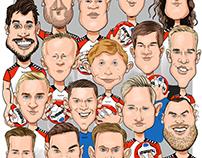 Team karikatur