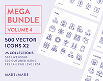 Line Icons – Mega Bundle Volume 4